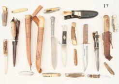 Konvolut Messer/Taschenmesser20 verschiedene. Zustand: II