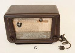 Altes RadioWega Fox Typ 52. Bakelitgehäuse. Um 1935.Zustand: II