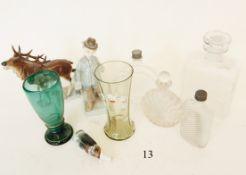 Konvolut Glas und PorzellanMeist mit jagdlichem Bezug. Verschiedenes. Zustand: II