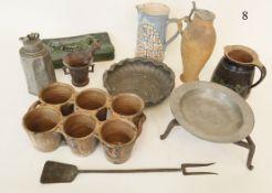 Konvolut alte, bäuerliche Küchengerätschaften11 Teile. Verschiedenes.Zustand: II