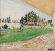 Enslin Hercules du Plessis (South African 1894 - 1978) VIEW OF BACK GARDEN