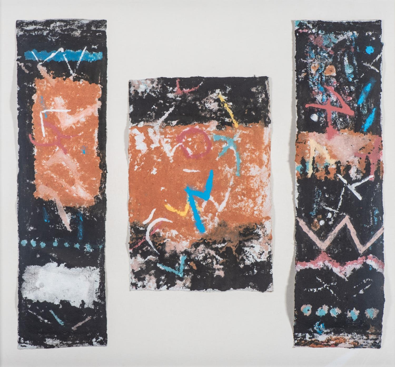Durant Basi Sihlali (South Africa 1935 ? 2004): UNTITLED, triptych