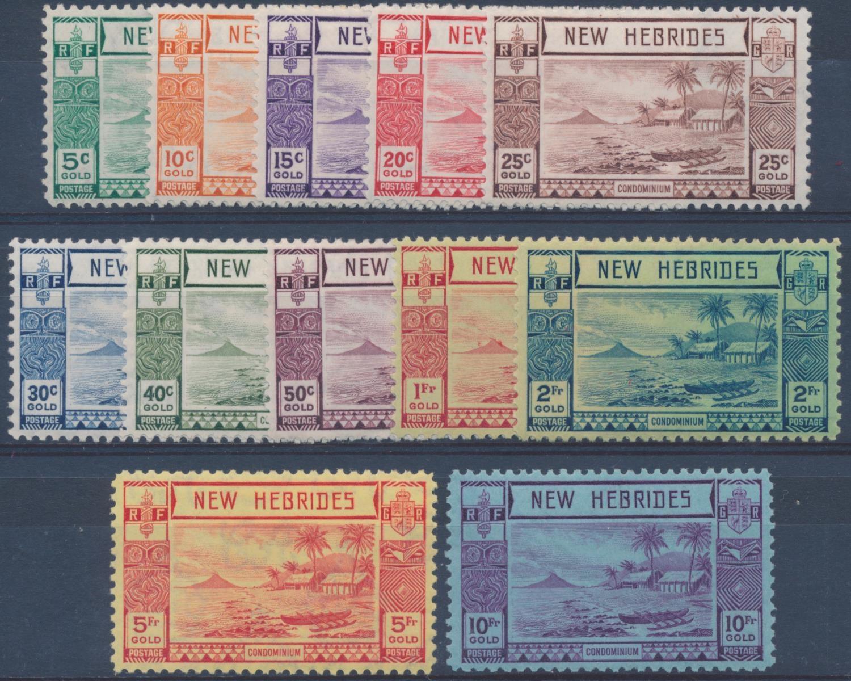 NEW HEBRIDES 1938 KGVI GOLD CURRENCY SET