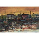 Kenneth Baker (South Africa 1931 ? 1995): VIEW OF THE DOCKS