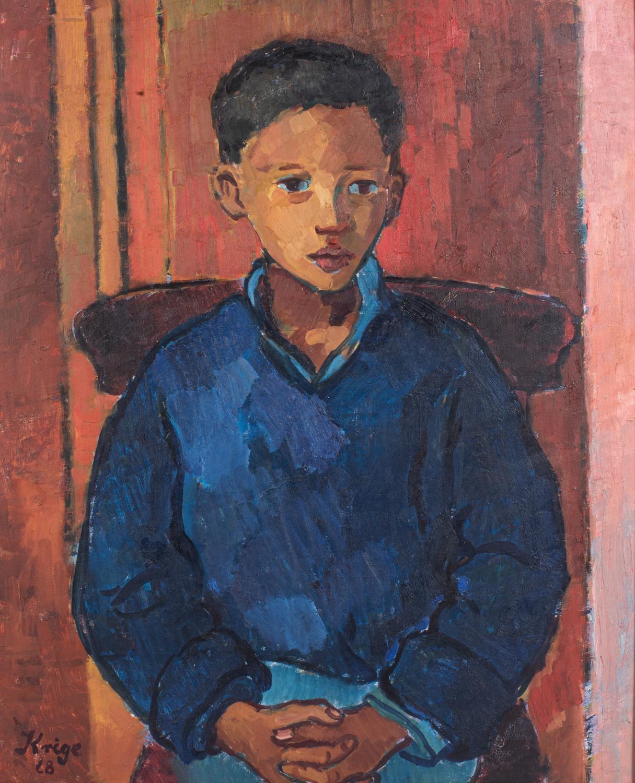 François Krige (South Africa 1913 ? 1994): BOY IN BLUE - Image 3 of 6