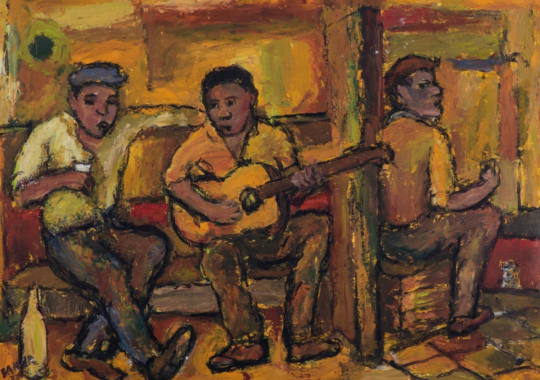 Kenneth Baker (South Africa 1931 ? 1995): BAR SCENE