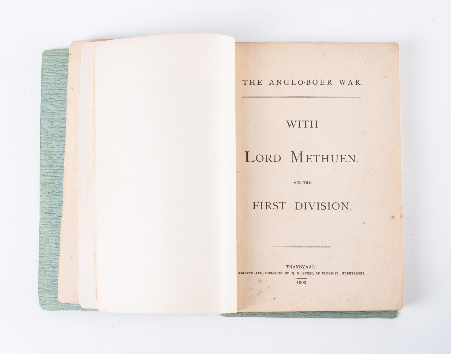 Guest, H. M. ? WITH LORD METHUEN AND THE FIRST DIVISION (THE ANGLO BOER WAR) - Image 4 of 4