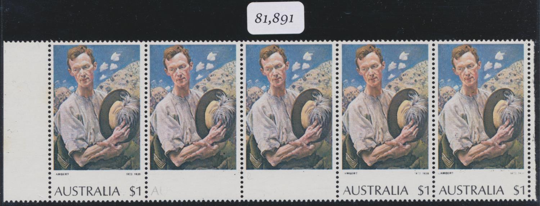 AUSTRALIA 1974-1979 QEII $1 MULTICOLOURED