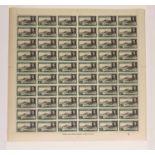 ASCENSION 1949 1d. BLACK & GREEN