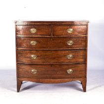 A REGENCY MAHOGANY CHEST-OF-DRAWERS