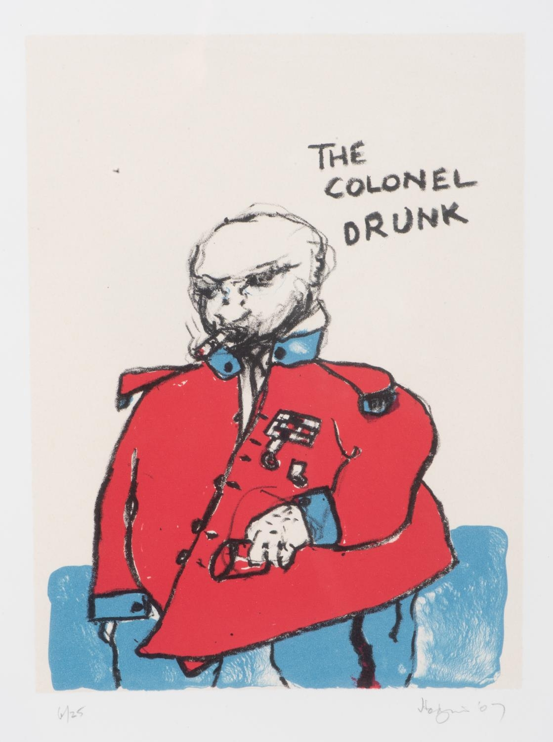 Robert Griffiths Hodgins (South Africa 1920 ? 2010): THE COLONEL DRUNK