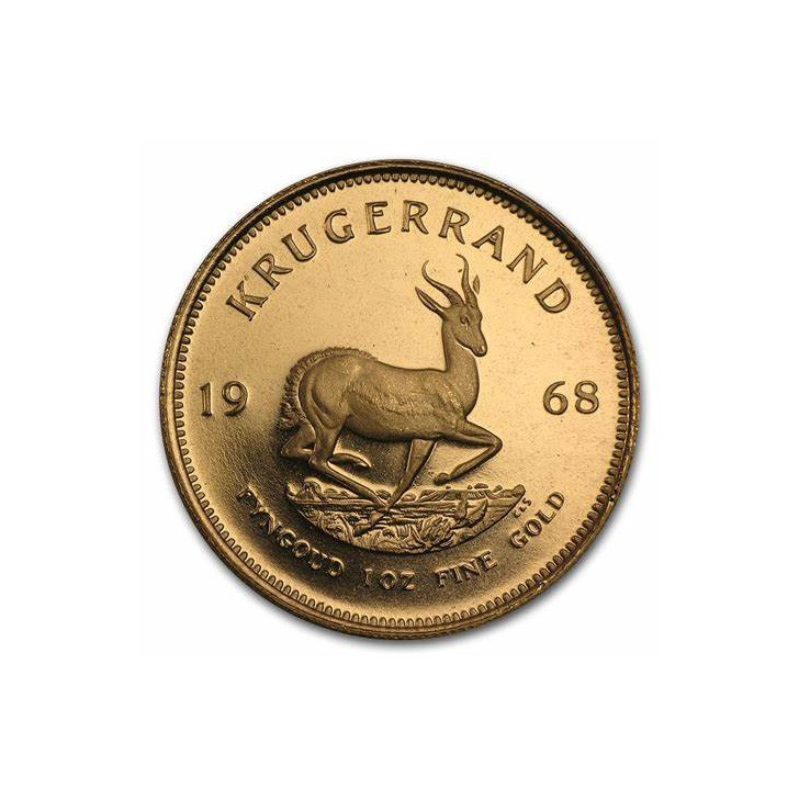 A GOLD ONE OUNCE KRUGERRAND MINTED 1968