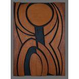 Jan de Jongh (South Africa 20th Century): HARD EDGE ABSTRACTION