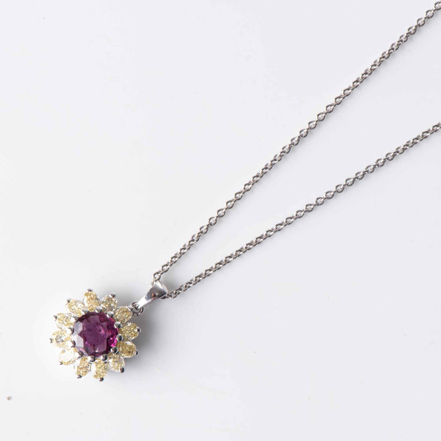 A RUBY PENDANT - Image 2 of 2