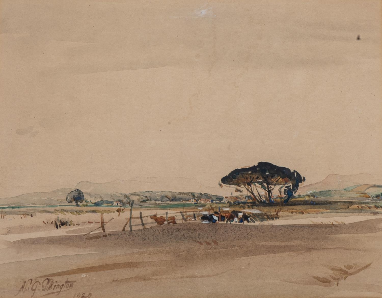 Henry Lionel Gordon Pilkington (South Africa 1886 - 1968): FARM SCENE
