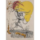 Salvador Dalí (Spain 1904 ? 1989): HUNCHBACK WITH BAGPIPE