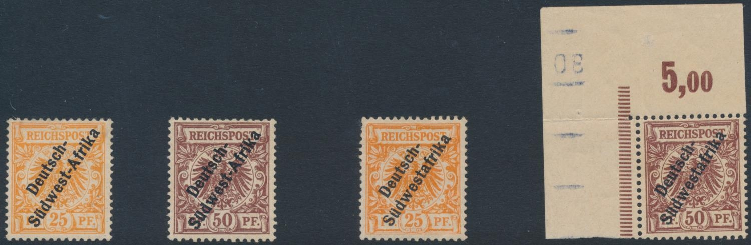GERMAN SOUTH WEST AFRICA 1897-1898 PROVISIONAL ISSUES