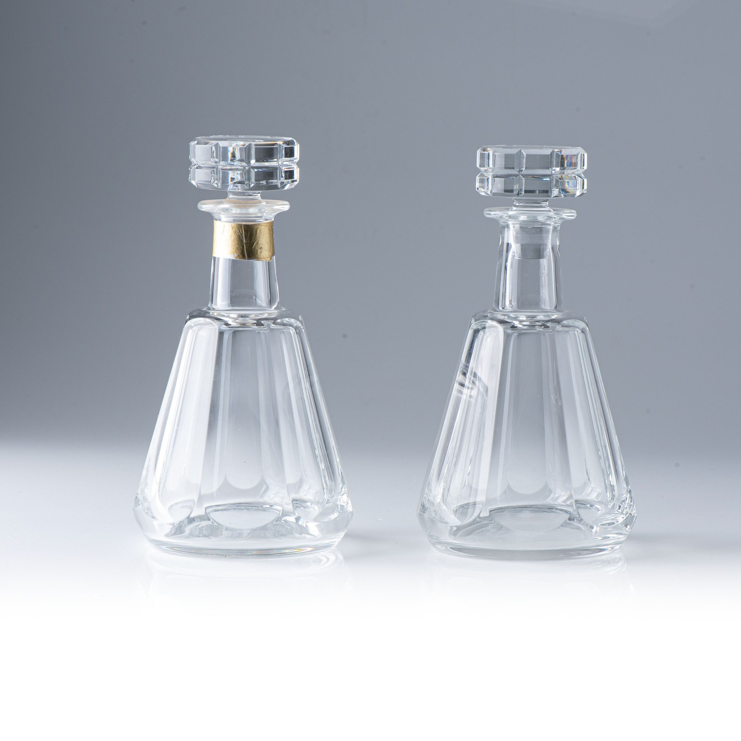 A NEAR-PAIR OF BACCARAT ?TALLYRAND? DECANTERS