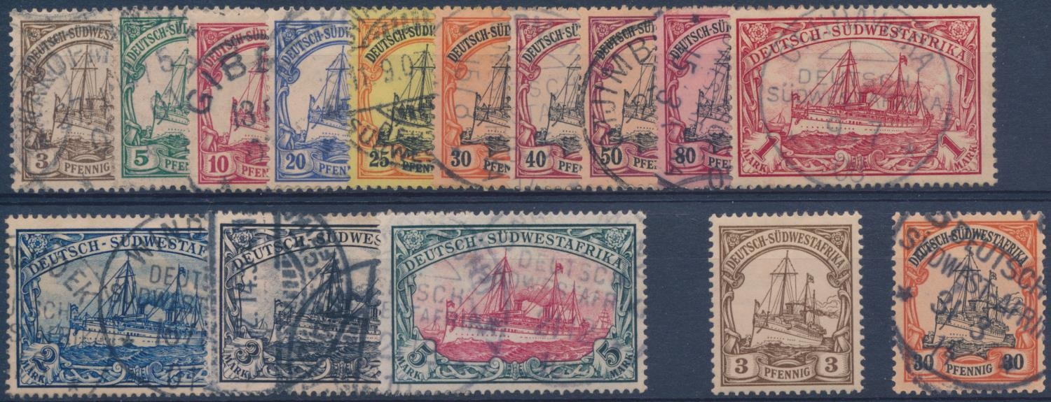 GERMAN SOUTH WEST AFRICA 1901 DEFINITIVE ISSUE