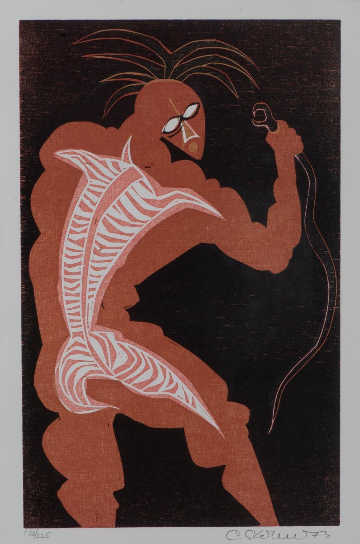 Cecil Edwin Frans Skotnes (South Africa 1926 ? 2009):SHAKA KILLS THE MAMBA
