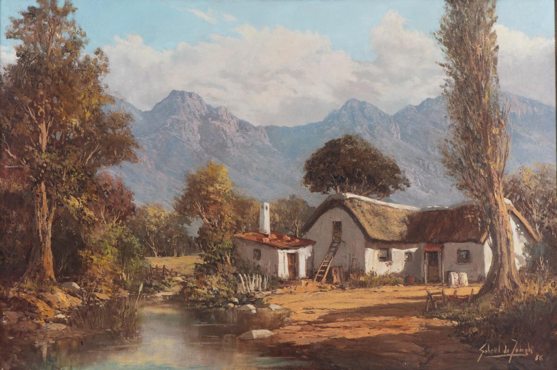 Gabriel Cornelis de Jongh (South Africa 1913 ? 2004): COTTAGE IN A LANDSCAPE