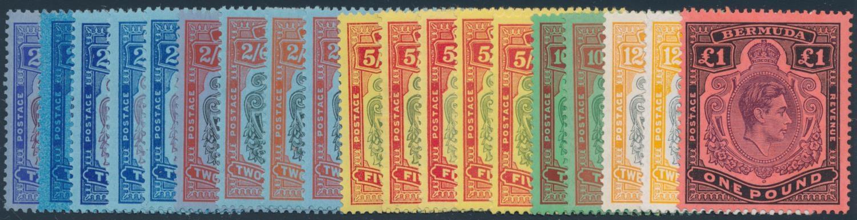 BERMUDA 1938-1953 KGVI KEY TYPES