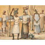 Jan Johannes Wilhelmus Dingemans (South Africa 1921 ? 2001): FIVE FIGURES