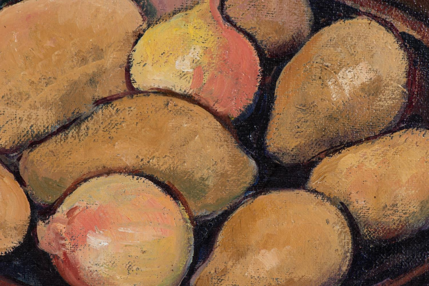 François Krige (South Africa 1913 ? 1994): STILL LIFE WITH POTATOES AND ONIONS - Image 2 of 4