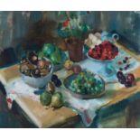 Clement Edmond Théodore Marie Serneels (Belgium 1912 ? 1991): STILL LIFE ON A TABLE