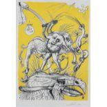Salvador Dalí (Spain 1904 ? 1989): HEART, ELEPHANT AND BIRD