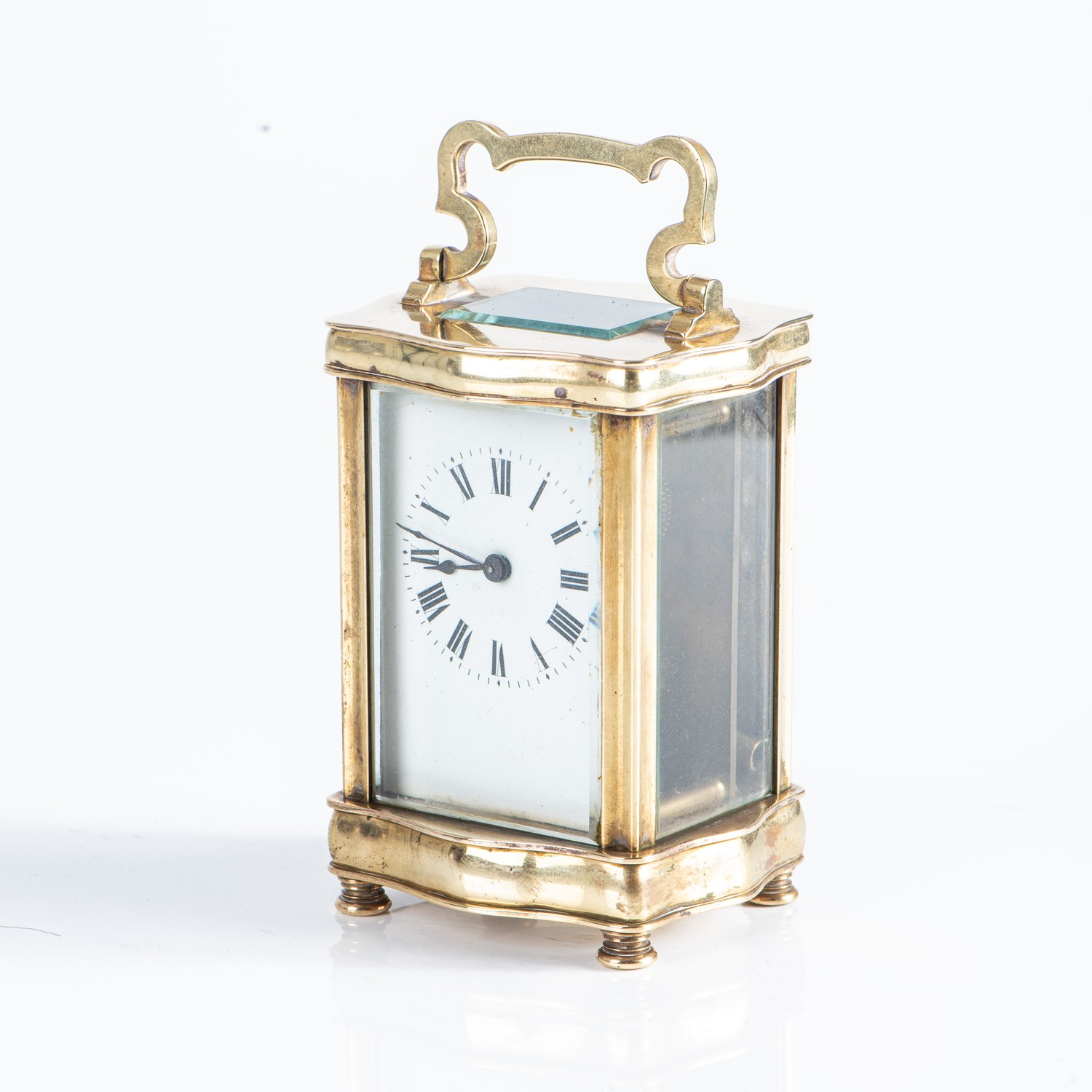 A BRASS CARRIAGE CLOCK - Image 2 of 2