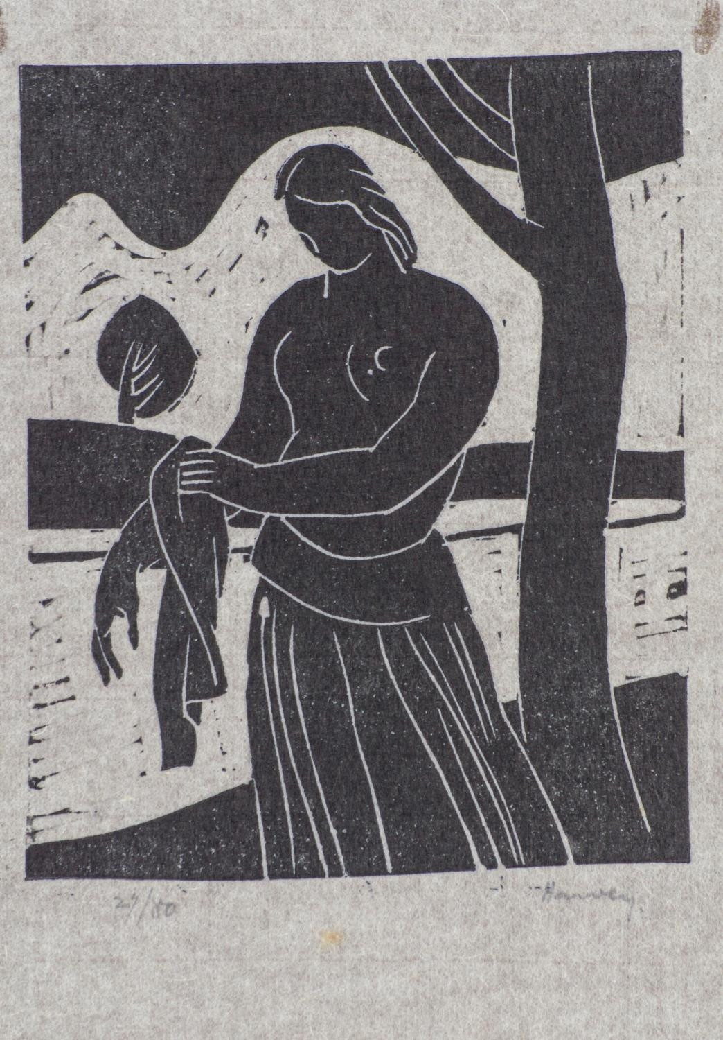 Russell Harvey (South African 1904 ? 1963): FIVE LINOCUTS - Image 3 of 3