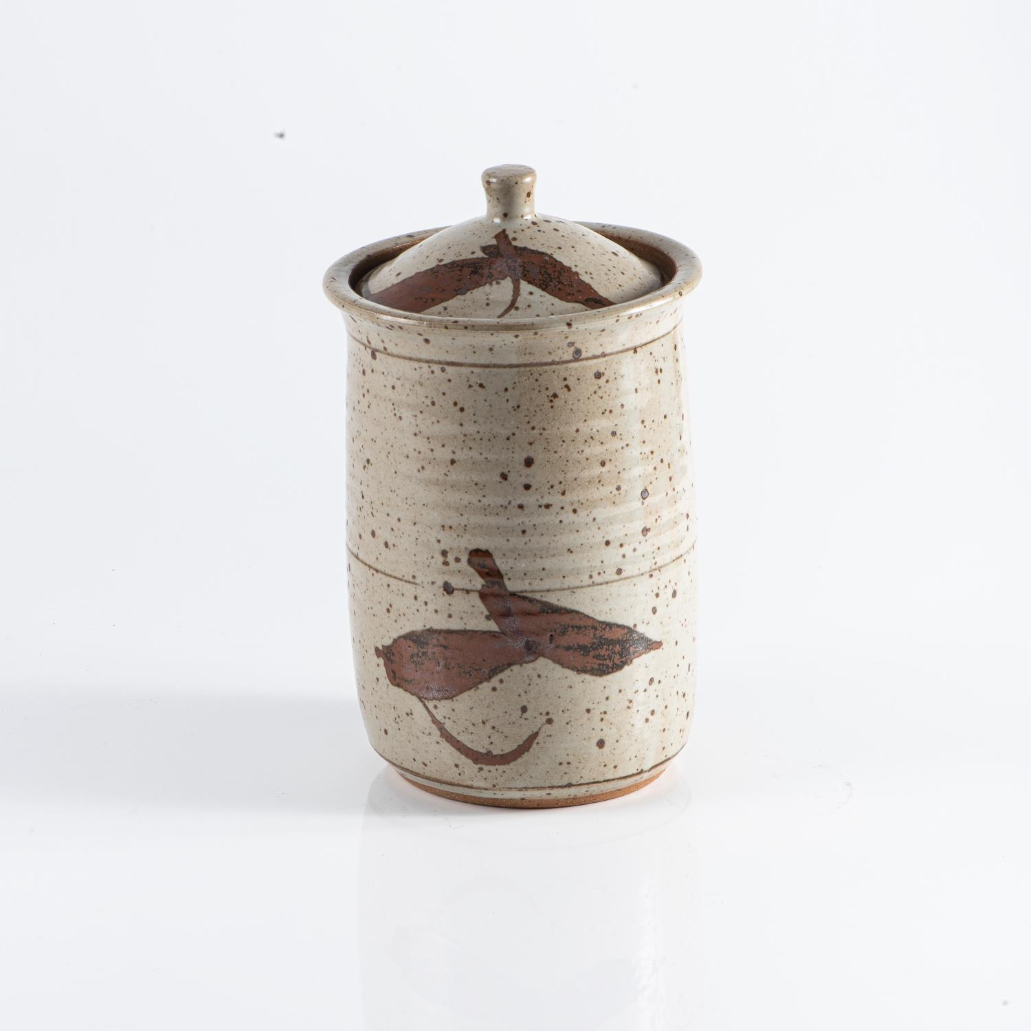 TIM MORRIS (SOUTH AFRICAN 1941-1990): A TALL STONEWARE STORAGE JAR AND COVER