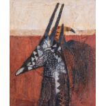 Ruth Levy (South Africa 1924 ? 2017): CHIWARA ANTELOPE HEAD DRESS