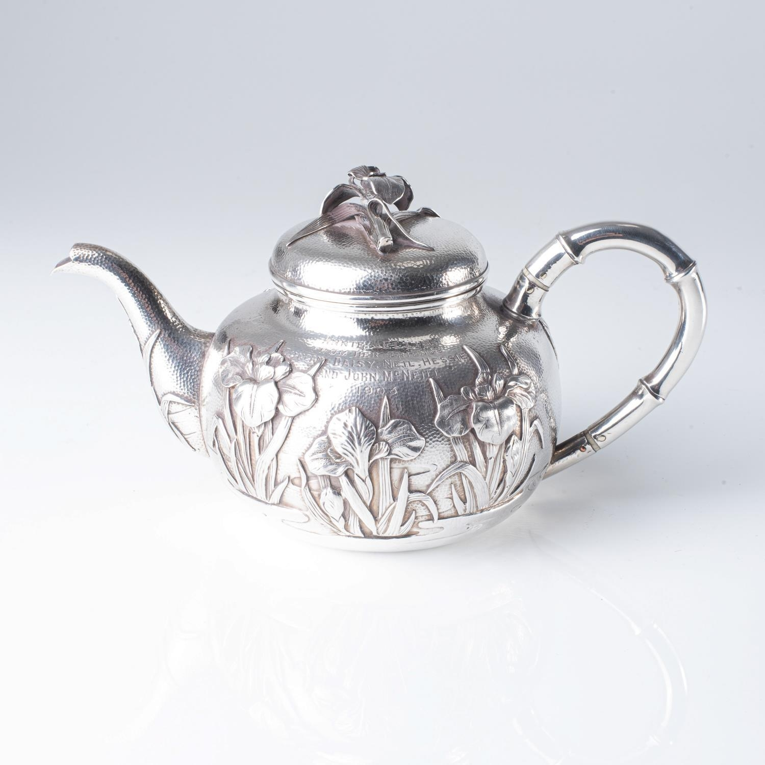 A JAPANESE SILVER TEAPOT - Image 2 of 2