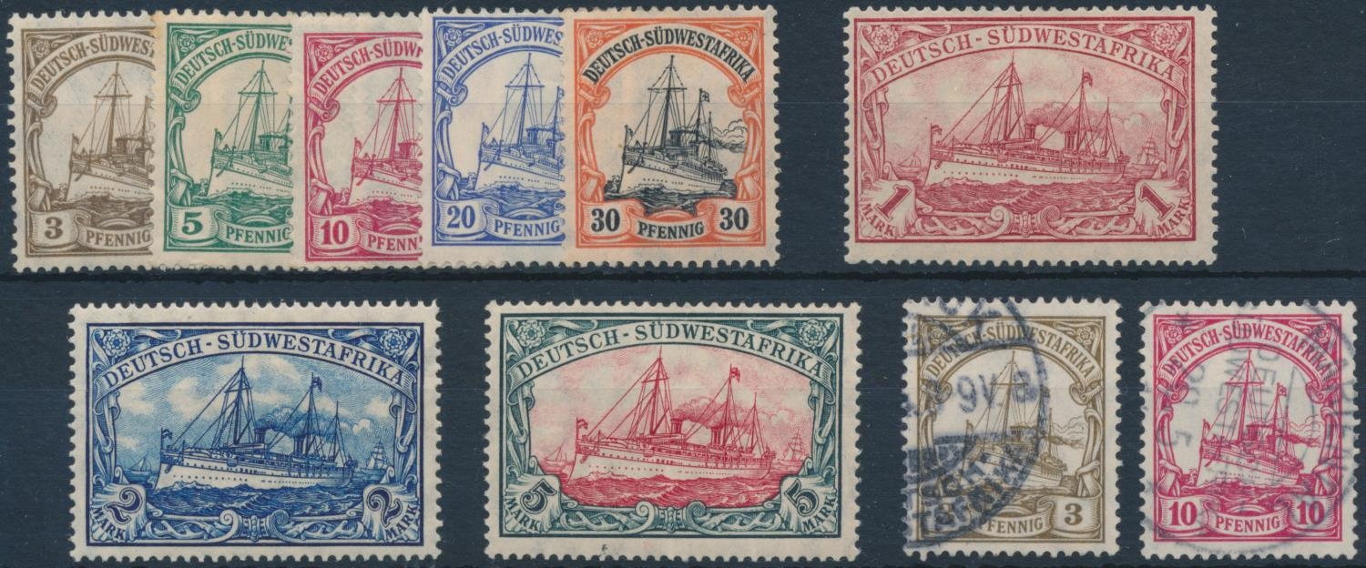 GERMAN SOUTH WEST AFRICA 1906-1919 DEFINITIVE ISSUE