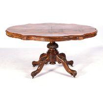 A VICTORIAN WALNUT TABLE