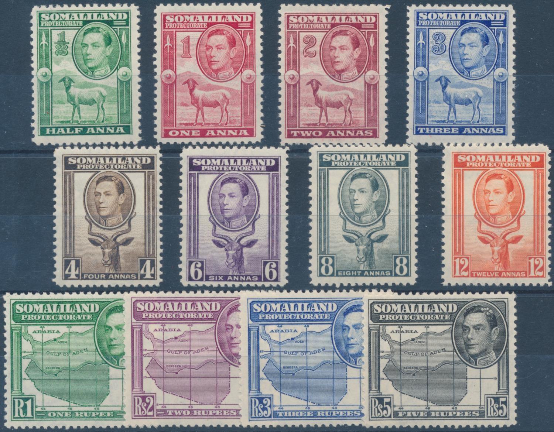 SOMALILAND 1938 KGVI DEFINITIVES