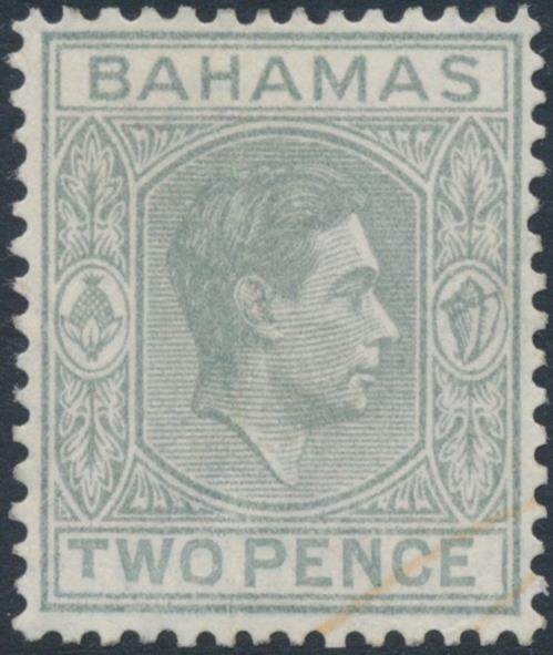 BAHAMAS 1938 KGVI 2d. pale slate
