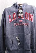 16 SIXTY HOODY NEW WITH LABEL, Colour : DARK GREY, AGE: UNKNOWN, SIZE: MED 38, CONDITION GRADE: OK *