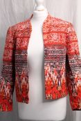 H&M PATTERNED JACKET, Colour : RED PATTERNED, AGE: UNKNOWN, SIZE: 36, CONDITION GRADE: OK * TO BE
