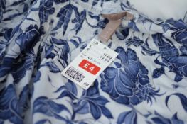 H&M BLOUSE NEW WITH LABELS, Colour : BLUE PATTERNED, AGE: UNKNOWN, SIZE: LARGE, CONDITION GRADE: 1