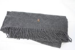POLO WOOL SCARF, Colour : DARK GREY, AGE: UNKNOWN, SIZE: ONE SIZE, CONDITION GRADE: 1 VERY GOOD * TO