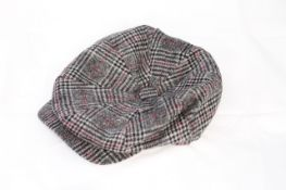 TWEED FLAT CAP, Colour : GREY PATTERNED, AGE: UNKNOWN, SIZE: ONE SIZE, CONDITION GRADE: 1 VERY