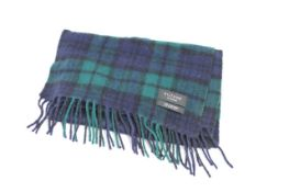 KILTANE OF SCOTLAND CASHMERE SCARF, Colour : GREEN PATTERNED, AGE: UNKNOWN, SIZE: ONE SIZE,