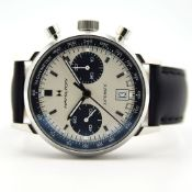 GENTLEMAN'S HAMILTON INTRA-MATIC AUTOMATIC CHRONOGRAPH, REF. H38416711, DECEMBER 2018 BOX AND