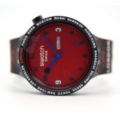GENTLEMAN'S SWATCH X BATHING APE BAPE LONDON LIMITED EDITION, SO27X701S, UNWORN BOX AND PAPERS,