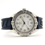 GENTLEMAN'S BREITLING COLT AUTOMATIC WHITE, REF. A17035, JULY 1996 BOX AND PAPERS, BREITLING CAL.