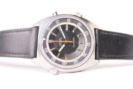 1960s OMEGA SEAMASTER CHRONOSTOP REFERENCE 145.008, circular dark two tier dial, baton hour markers,