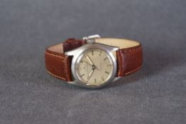 MID SIZE ROLEX OYSTER SPEEDKING PRECISION WRISTWATCH, circular cream dial with arabic numeral and